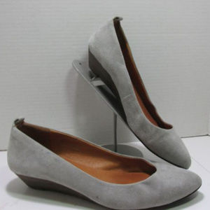 Madewell Gray Suede Mini Wedge Shoes 8